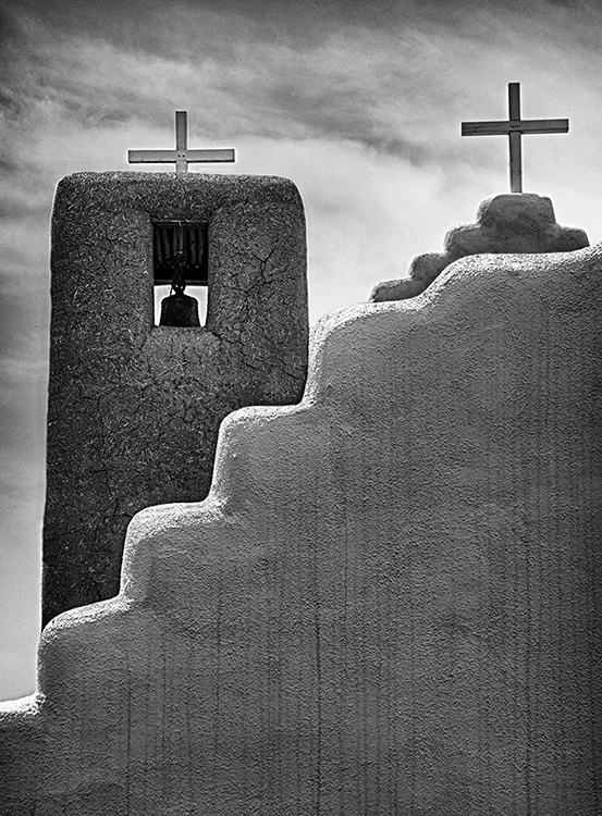 Taos Pueblo Church B&W